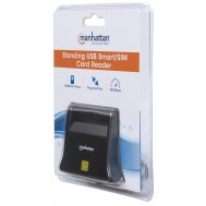 Lettore di Schede Smart SIM Desktop Nero - Manhattan - I-CARD CAM-USB3