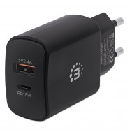 Caricatore da Muro Power Delivery 27W Nero - Manhattan - IPW-USB-AC-BK