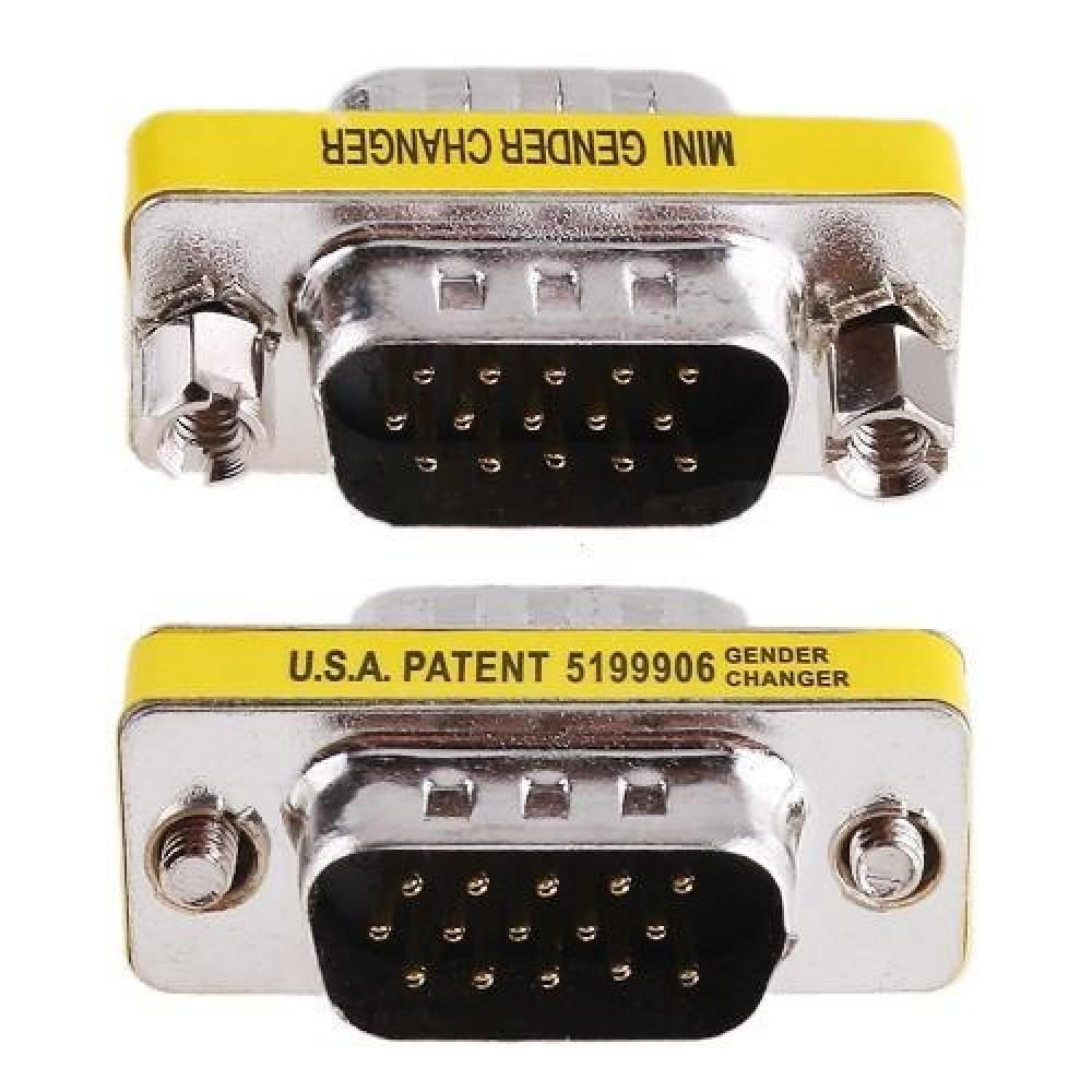 Mini Gender Changer VGA DB 15 poli HD M/M - Manhattan - IADAP 734-15HD-1