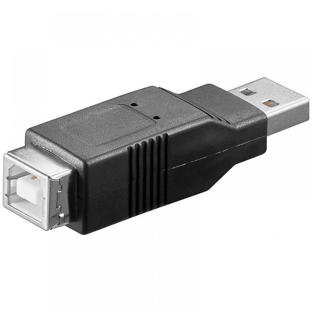 Adattatore USB 2.0 A Maschio / B Femmina - Manhattan - IADAP USB-AM/BF-1