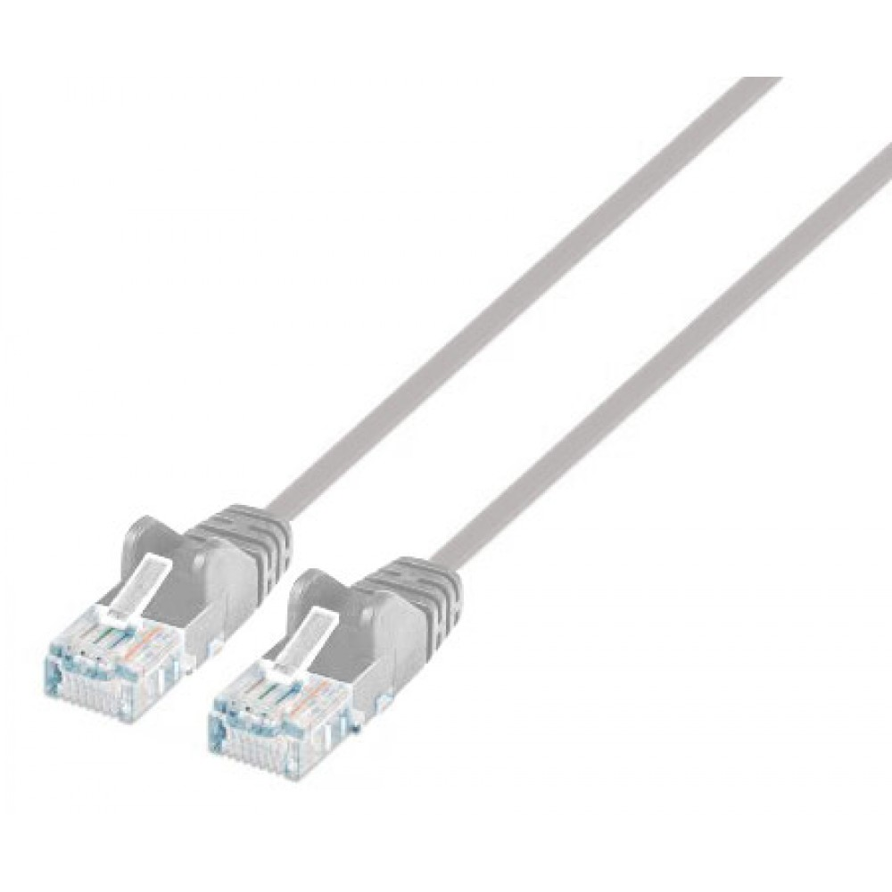 Cavo patch di rete Cat6 UTP Slim 1 m grigio - Intellinet - ICOC U6-SLIM-010G-1