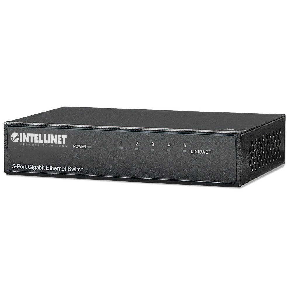 Ethernet Switch Gigabit con 5 porte Desktop - Intellinet - I-SWHUB GB-500-1