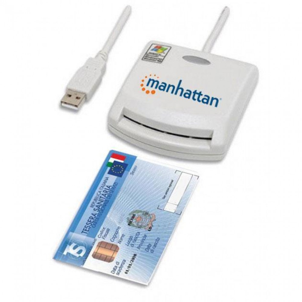 Lettore di Smart card USB esterno - Manhattan - I-CARD CAM-USB-1