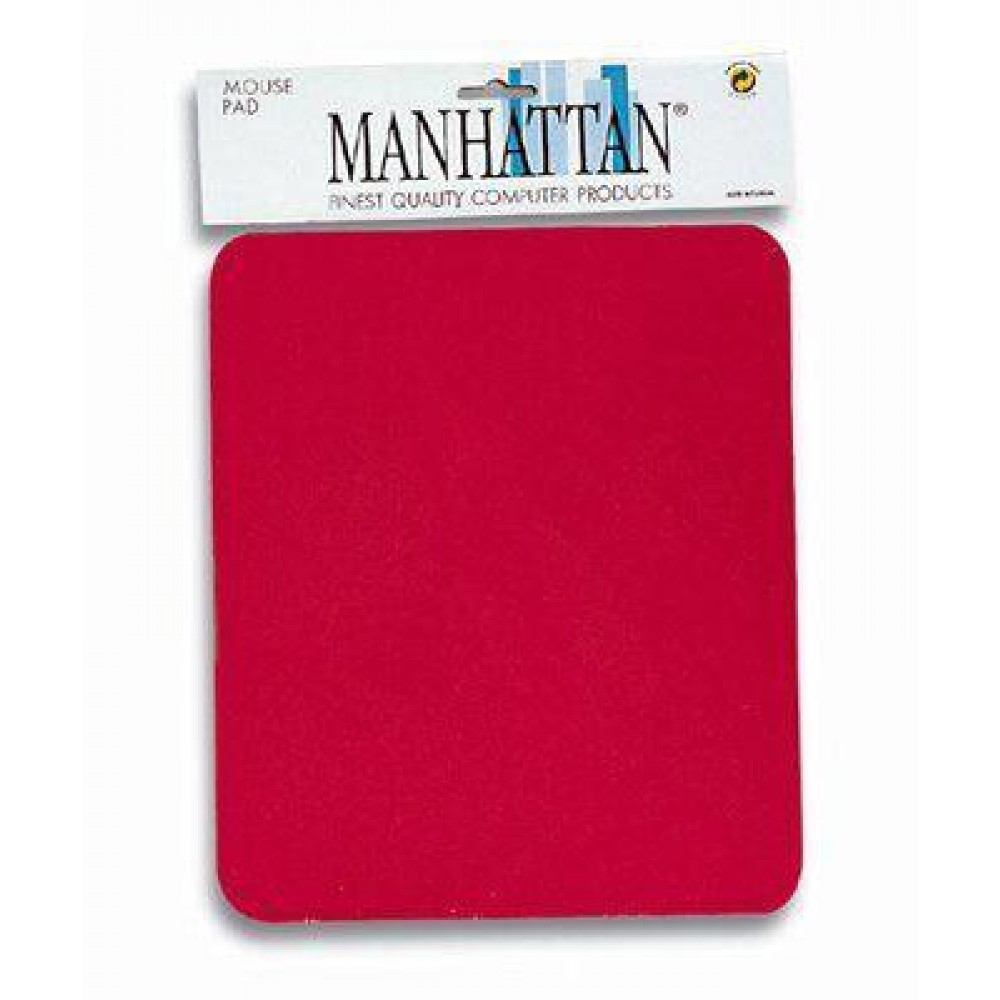 Tappetino per Mouse, 4 mm Manhattan Tappetino rosso, 4 mm minimo 200 pezzi - Manhattan - ICA-MP 12-4-RE-1