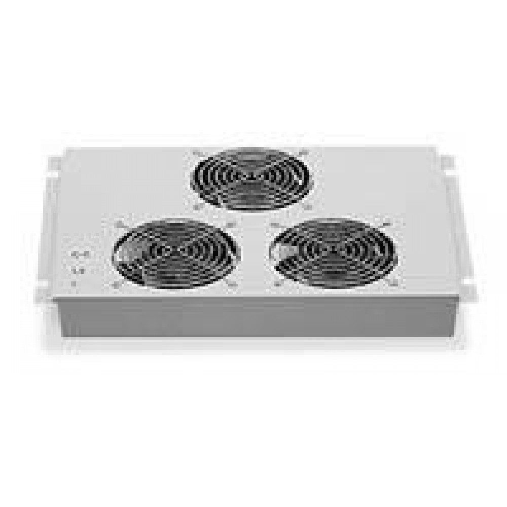 Gruppo 3 Ventole a Soffitto con Termostato per Armadi Rack - Intellinet - I-CASE FAN-3-1