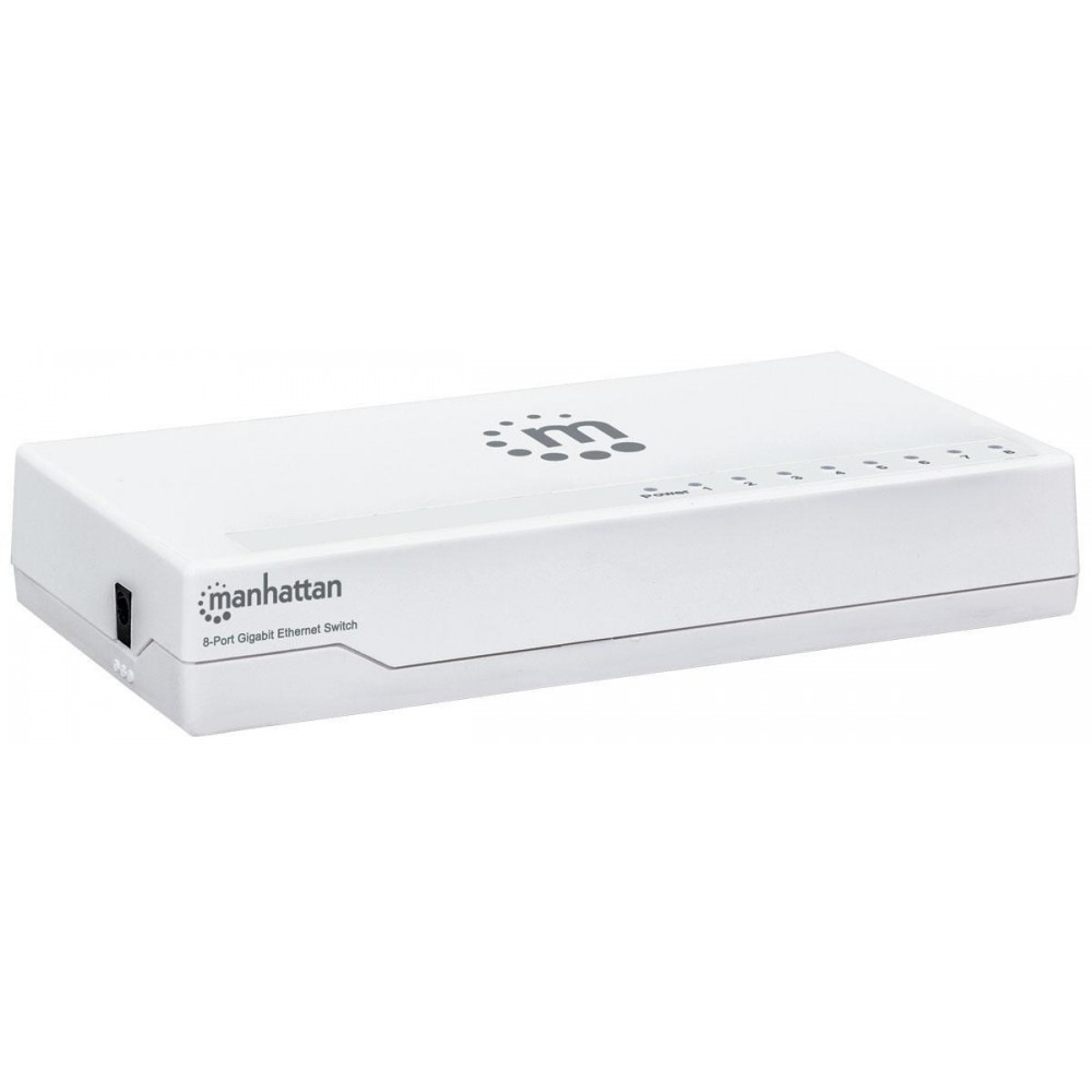 Ethernet Switch Gigabit 8 porte Desktop - Manhattan - I-SWHUB GB-080P-1