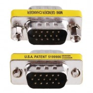 Mini Gender Changer VGA DB 15 poli HD M/M - Manhattan - IADAP 734-15HD