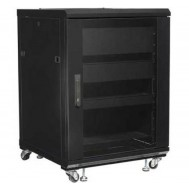 Armadio Rack 19 600x600 15U per Audio Video Nero-Techly Professional-I-CASE AV-2115BKTY