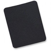 Tappetino per Mouse, 6 mm, Bulk, 25x22 cm, Nero - Manhattan - ICA-MP 10-BLAC