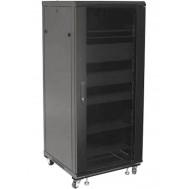 Armadio Rack 19 600x600 27U per Audio Video Nero-Techly Professional-I-CASE AV-2127BKTY