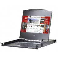 "Console  KVM Switch DVI USB LCD 17.3"" Full HD da rack 19"", CL6700MW - Aten - IDATA CL-6700MW"