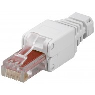 Plug Cat.6 RJ45 Tooless con Copriconnettore - Intellinet - IWP-8P8C-TLU6