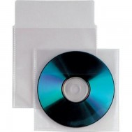 Buste Porta CD/DVD in PPL 800 Micron Con Aletta e Biadesivo 100 pz - Manhattan - ICA-CD2-C4