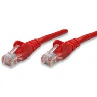 Cavo di rete Patch in Rame Cat. 6A Rosso UTP 3 mt-Intellinet-ICOC U6AG-030-RE
