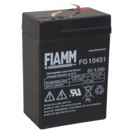 Batteria al Piombo 6V 4,5Ah (Faston 4,8mm) - Fiamm - IC-FG10451