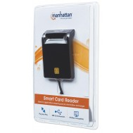 Lettore/Scrittore di Smart Card USB Compatto Nero - Manhattan - I-CARD CAM-USB2MH