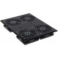 "Gruppo di 4 Ventole a Soffitto per Rack 19"" NetRack - Techly Professional - I-CASE FAN-4FPBK"