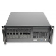 "Chassis Industriale Rack 19""/Desktop 4U 8x3.5"" HDD Ultra Compatto Nero - Techly - I-CASE MP-P4HX-BLK7"