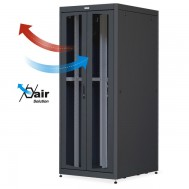 "Armadio Server Rack 19"" 800x1000 27U Nero Doppia Porta Grigliata - Intellinet - I-CASE SVR-278-2BG"