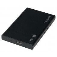 "Box Esterno HHD/SSD 2.5"" da SATA a USB 3.0 Screwless  - Logilink - I-CASE USB3-SL25S"