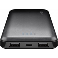 Power Bank Slim 10000 mAh 2x USB Nero - Goobay - I-CHARGE-100002USL