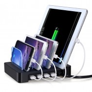 Docking Station 4 Porte USB Ricarica Smartphone e Tablet Nero - Fontastic - I-CHARGE-4P-SMART