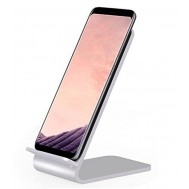 Caricabatterie Wireless Fast Qi Stand Verticale 10W Lega di Alluminio-Techly Np-I-CHARGE-WRA10S