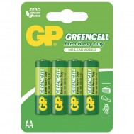 Blister 4 Batteria Greencell Zinco/Carbone Stilo AA - Gp Batteries - IC-GP5565