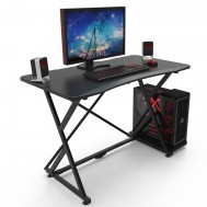 Scrivania Gaming per PC con Bordo Ergonomico Nero - Techly - ICA-TB ESG01