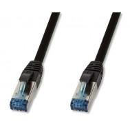 Cavo Patch Cat.6A S/FTP PUR IP20 UV 50m Nero - Logilink - ICOC PUR6-500B
