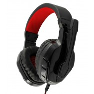 Cuffie Gaming con Microfono Panther Nero Rosso GHS-1641 - White Shark - ICSB-GHS1641BR