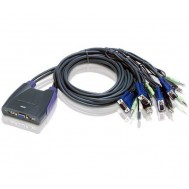 Switch KVM VGA/Audio 4 porte USB, CS64US