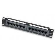 "Pannello Patch per Rack 10"" 12 Porte UTP Cat.6 1HE - Intellinet - I-PP 12-R6U-10"