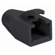 Copriconnettore per Plug RJ45 Cat.6 8mm Nero - Intellinet - IWP-CBOOT-BLK8
