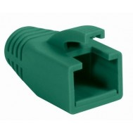 Copriconnettore per Plug RJ45 Cat.6 8mm Verde - Intellinet - IWP-CBOOT-GRE8