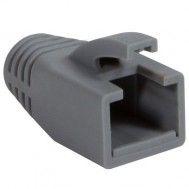 Copriconnettore per Plug RJ45 Cat.6 8mm Grigio - Intellinet - IWP-CBOOT-GRY8