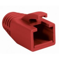 Copriconnettore per Plug RJ45 Cat.6 8mm Rosso - Intellinet - IWP-CBOOT-RED8