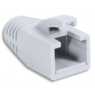 Copriconnettore per Plug RJ45 Cat.6 8mm Bianco - Intellinet - IWP-CBOOT-WHI8