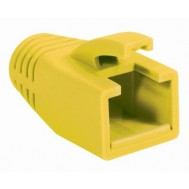 Copriconnettore per Plug RJ45 Cat.6 8mm Giallo - Intellinet - IWP-CBOOT-YEL8