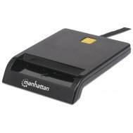 Lettore/Scrittore di Smart Card USB Compatto Nero Bag - Manhattan - I-CARD CAM-USB2MHB