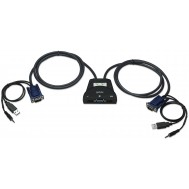 Mini KVM Switch 2 Porte USB con Audio - Manhattan - IDATA KVM-522U