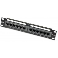 "Pannello Patch 12 Porte, 10"", 1U, CAT5E UTP - Intellinet - I-PP 12-RU-10"