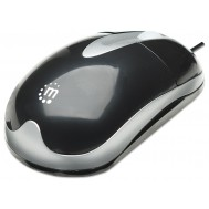 MH3 Mouse Classic Desktop Ottico USB Nero - Manhattan - IM 900-U-RT