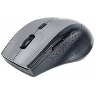 Mouse Ottico Wireless Curve 1600dpi, Grigio - Manhattan - IM 1005-WL-GB