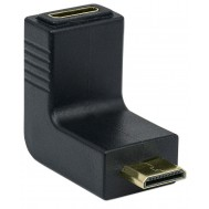 Adattatore HDMI Mini C Femmina a Mini C Maschio Angolato Nero - Manhattan - IADAP HDMIMC-MF90