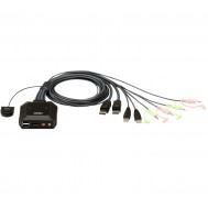 Switch KVM per doppio schermo DisplayPort (ThunderBolt) 2 USB -Aten-IDATA CS-22DP