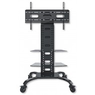 """Supporto a Pavimento con 2 Mensole Trolley TV LCD/LED/Plasma 32-70"""" - Techly - ICA-TR8"""