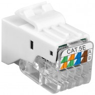 Frutto Keystone Toolless RJ45 Cat5e UTP Snap-In Bianco - Intellinet - IWP-MD C5E/TLU
