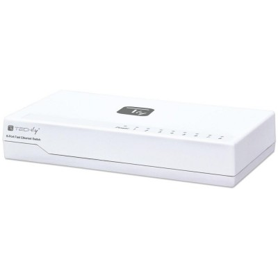 Switch Hub 10/100 Mbps Fast Ethernet 8 Porte - Techly - I-SWHUB-080TY-2