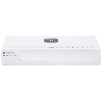 Switch Hub 10/100 Mbps Fast Ethernet 8 Porte - Techly - I-SWHUB-080TY-3